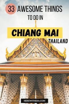 If you're traveling to Thailand, and wondering about what to do in Chiang Mai, I've got you covered! Here are 33 awesome things to do in Chiang Mai for every type of traveler. Thailand Travel Tips, Hawaii Travel, Asia Travel, Croatia Travel, Amazing Destinations, Travel Destinations, Holiday Destinations, Chiang Mai Thailand, Bangkok Thailand