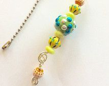Ceiling Fan Pull, Fan Pull, Colorful Fan Pull, Yellow, Orange, Green, Turquoise, Funky Fan Pull, Fun Fan Pull, Bright Color Fan Pull Ceiling Fan Pulls, Ceiling Fans, Light Pull, Green Turquoise, Key Chains, Orange, Yellow, Charms, Purse