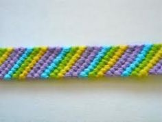 ▶ Friendship Bracelets for Beginners~Candy Stripe Bracelet - YouTube
