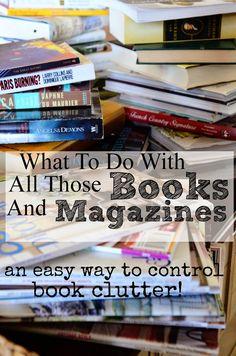 Organizing books and magazines