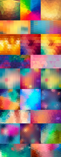 24 Vector Polygon Backgrounds