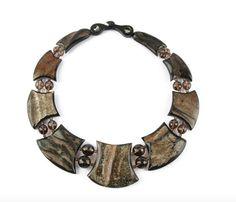 Collier aus natürlichem Horn mit facettiertem Rauchquartz. Sommerkollektion 2013. #Afrique