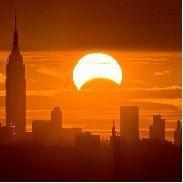 Solar Eclipse, NYC