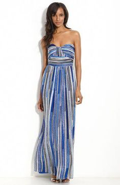 1a79d264e9 Laundry by Shelli Segal Strapless Chiffon Maxi Dress - Gorgeous! Maybe I  should get this