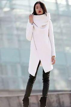 Ассиметрия, пальто, футуризм, силуэт, лаконично