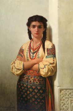Oriental girl by Emile Charles Hippolyte Lecomte-Vernet