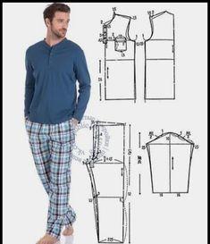 T Shirt Sewing Pattern, Mens Sewing Patterns, Sewing Men, Sewing Pants, Jacket Pattern, Sewing Clothes, Clothing Patterns, Diy Clothes, Costura Fashion