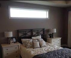Best High Windows In Bedroom Photos Bedroom Windows, Living Room Windows, Bedroom Wall, Bedroom Decor, Window Above Bed, Window Bed, Window Wall, High Windows, Transom Windows