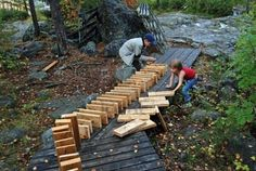 Wood dominos...would be great for general building and block play outdoors also...