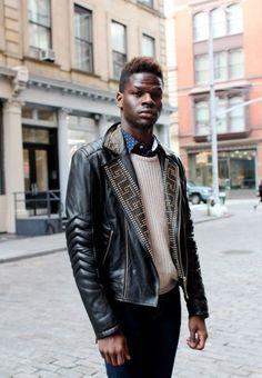 93ca064d9b8c Mens-Versace-H-amp-M-Golden-Silver-Studded-Biker-Black-Leather-Jacket -All-Sizes