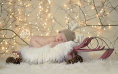 Newborn Photo Prop Photography Prop Deer Hat door MySweetKnittings