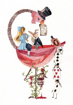 Alice in Wonderland #art #Illustration #watercolor