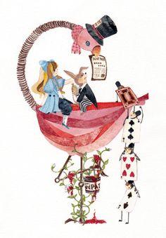 Alice in Wonderland #art #Illustration #watercolor