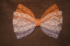 Lace hair bow.....this brings back my childhood so much :)