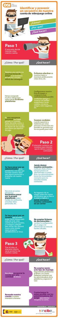 #Infografia  ¿Quieres proteger tu cuenta de un videojuego? ¡Te enseñamos cómo! via @osiseguridad