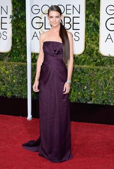 Katie Holmes in Marchesa at the 2015 Golden Globes