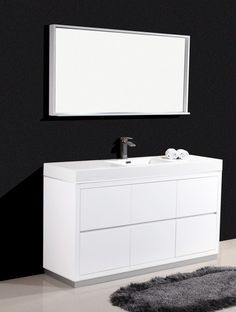 bliss 60 modern white vanity the vanity store canada 60 1