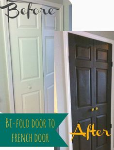 How to fix a broken bi-fold door and turn it into a double door. No more falling off the track. Easy project, for about 20 dollars.