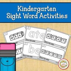 Kindergarten Sight Word Activities | Fine Motor Skills by Sweetie's Learning Resources, Teaching Ideas, Kindergarten Blogs, School Reviews, Learn To Spell, Sight Word Activities, Letter Formation, Painted Letters, Teacher Organization