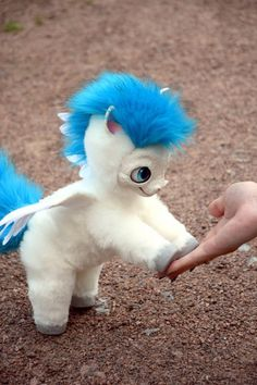 Pegasus baby pony from Hercules, Fantasy creatures, Whimsical toys & pets toy from faux fur and polymer clay for home decor and collectibles Cute Fantasy Creatures, Mythical Creatures, Cute Stuffed Animals, Cute Baby Animals, Walt Disney Cartoons, My Little Pony Unicorn, Mystical Animals, Baby Pony, Animal Decor