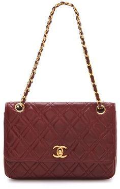 Vintage Chanel Double Stitch Shoulder Bag