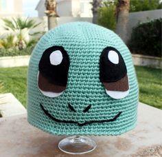 Squirtle -ish Hat : Kawaii Cool Pokemon Japanese-ish Handmade Crochet Beanie Hat. $30.00, via Etsy.