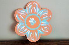 flower door décor, summer door décor, flower door hanger, home décor
