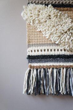 Handmade Gift Guide: 10 Gorgeous #Crochet Items from Amazon Handmade: Chevron Wall Hanging