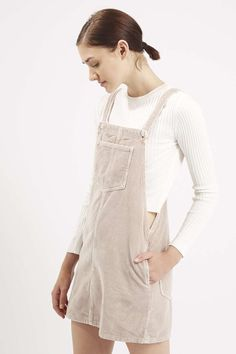 MOTO Cord Pinafore Dress - Topshop USA