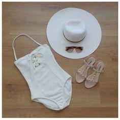 Cute white Swimwear collection