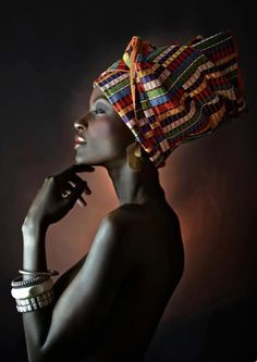 Magnificent turbaned lady