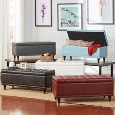 Shop for INSPIRE Q St Ives Lift Top Faux Leather Tufted Storage Bench. Get free shipping at Overstock.com - Your Online Furniture Outlet Store! Get 5% in rewards with Club O!