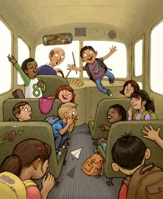 'Back to School' by Andrew Harris Back To School Art, Art School, School Days, Children's Book Illustration, Book Illustrations, Anime Family, Human Drawing, Detail Art, Cartoon Images