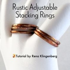 Rustic Adjustable Stacking Rings
