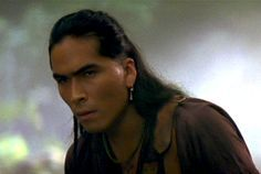 """Intense! Painfully handsome Inuit actor Eric Schweig, from the movie """"Last of the Mohicans."""""""
