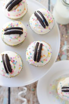 Funfetti Birthday Cake Oreo Cupcakes - The Cake Merchant