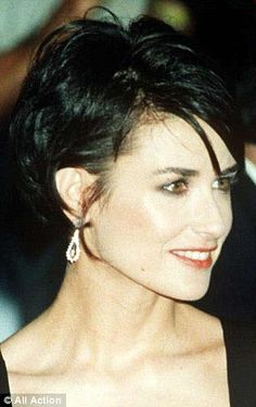 Demi Moore Short Bob Haircut   Google Search