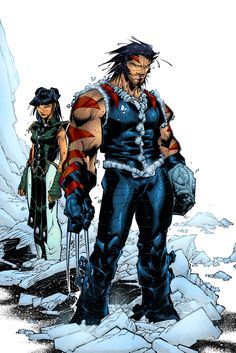 westcoastavengers:  AoA Wolverine by Chris Bachalo and Tim Townsend