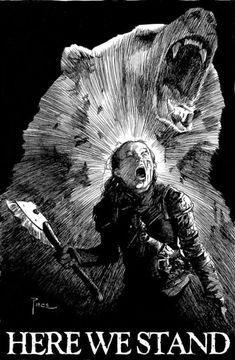 Lady Lyanna Mormont of Bear Island - Game of Thrones Game Of Thrones Artwork, Got Game Of Thrones, Game Of Thrones Funny, Winter Is Here, Winter Is Coming, 7 Arts, Bear Island, Game Of Trones, Movies And Series