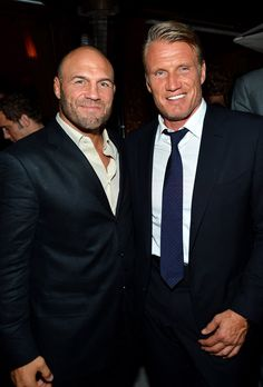 Randy Couture and Dolph Lundgren. it looks to me like they still have it!