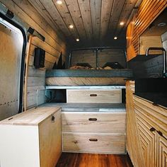 love the wood in this campervan