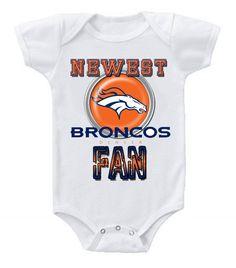 NEW Football Baby Bodysuits Creeper NFL Denver Broncos #2