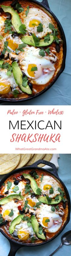 Paleo Whole30 Mexican Shakshuka