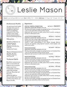 styles of resumes ideas about resume cover letters on cover resume ...