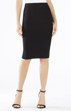 Pencil skirts are a must have. I like them because I can wear them in all seasons. They can be worn casually and dressy. During the winter months I pair a pencil skirt with tights, boots, and a sweater.