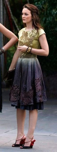 cute dress - Gossip Girl Season 3 favorite Blair look. Red Valentino dress. Juicy Couture bracelet. - (dress or shirt & skirt, shoes)