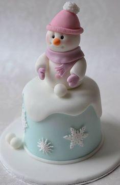 Christmas Mini Cake More christmas cake Christmas Cupcakes, Christmas Sweets, Christmas Baking, Christmas Snowman, Secret Chocolate Chip Cookie Recipe, Chocolate Chip Cookies, Fancy Cakes, Mini Cakes, Fondant Cakes