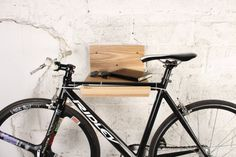 Wooden rack for a bicycle/ bicycle shelf/ Minimalist bike holder