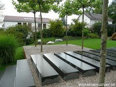 Raised Granite Slabs on Gravel good for by the firepit...additional seating