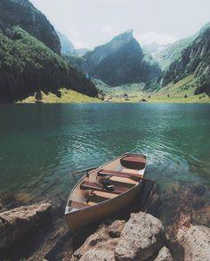 Cozy moments at lake Seealpsee, Switzerland by Jon Guler
